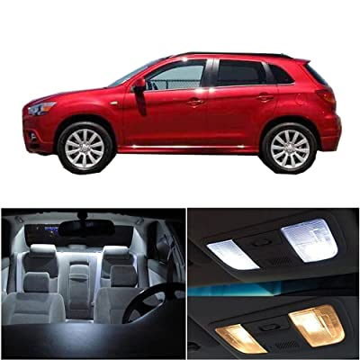 cciyu LED Interior Light Accessories Replacement Package Kit 10 Pack White Replacement fit for Mitsubishi Outlander Sport 2010-2020: Automotive