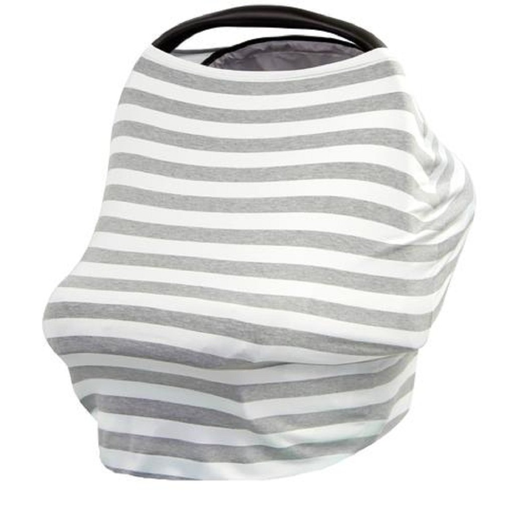Stretchy Baby Infant Car Seat Canopy, Nursing, Stroller Cover 3 in 1 Multi-Use Gift By BG Mini (Gray) u-01