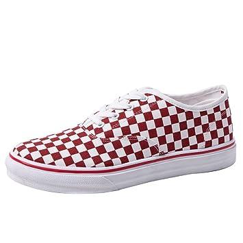 YaNanHome Zapatos para Hombre/Alpargatas Zapatos de Lona de Enrejado Blanco y Negro Zapatos de Mesa ...