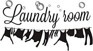 "Laundry Decor Laundry Room Wall Decal Quotes Wall Decorations Black 12.2""H X 22.45""W"