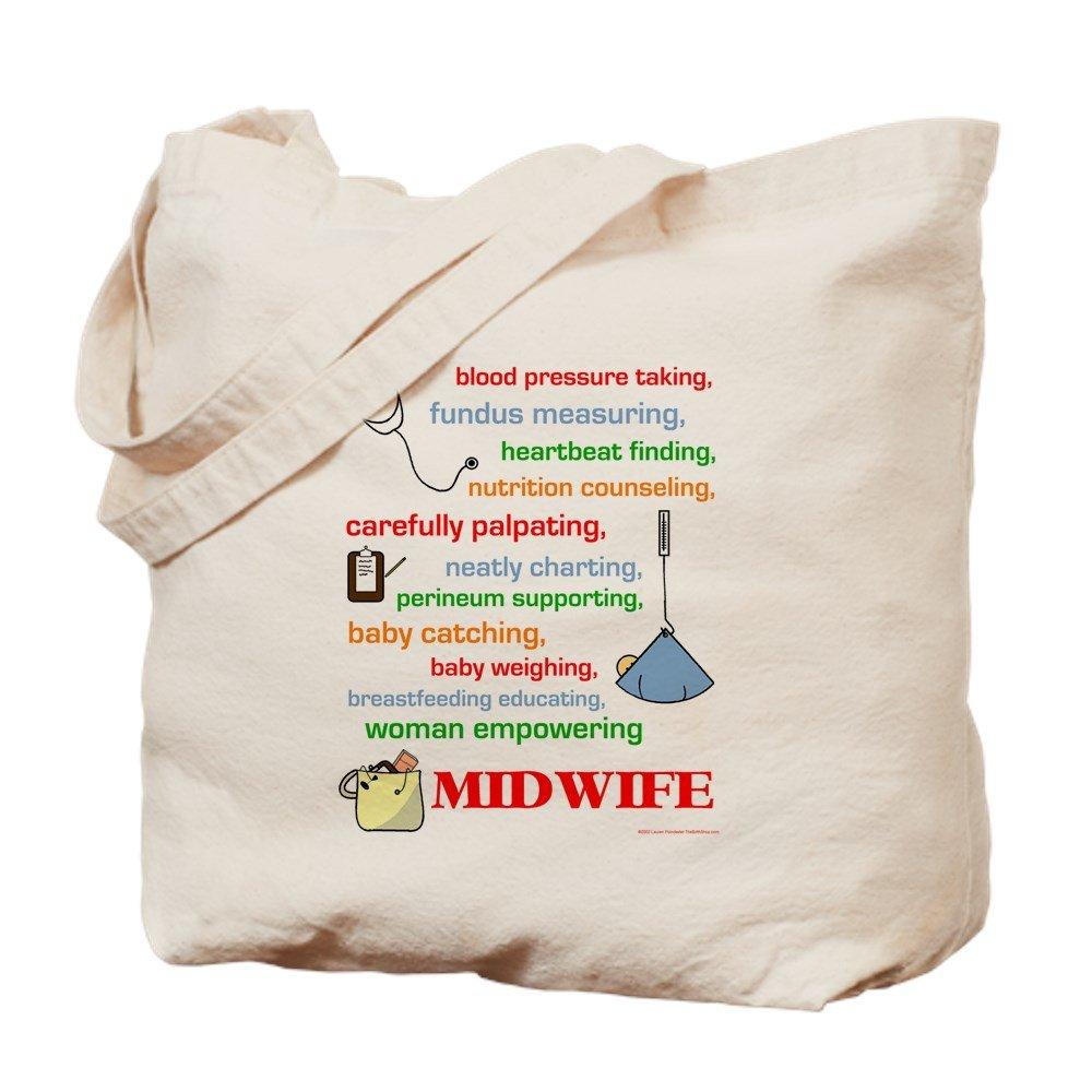 CafePress - Midwife/Job Description - Natural Canvas Tote Bag, Cloth Shopping Bag