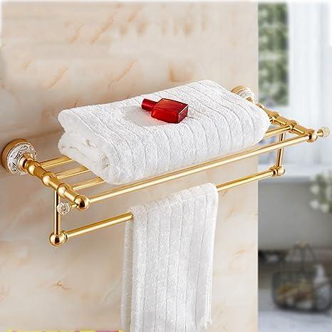 Towel Bars Espacio de Aluminio Europea toallero hogar baño Toalla toallero Aluminio Cepillado Toalla de Oro
