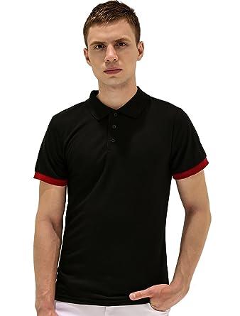 Sourcingmap - Camisa Casual - Polo - Manga Corta - para Hombre ...