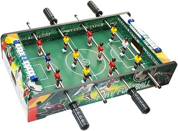 Futbolines Doble Juguete Mesa De Escritorio Máquina De Juguete De Niño Entretenimiento For Adultos De Madera De Niños (Color : Green, Size : 51 * 30.5 * 10.5cm): Amazon.es: Hogar