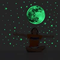 decalmile Luminosos Pegatinas de Pared Estrellas y Luna Brillantes en la Oscuridad Vinilos Decorativos Fluorescentes…