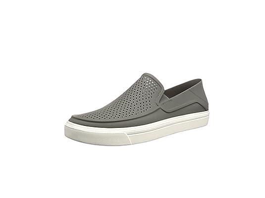 Crocs Citilane Roka - Zapatos para hombre sin cordones , Gris (Smoke/white) , 45/46 EU