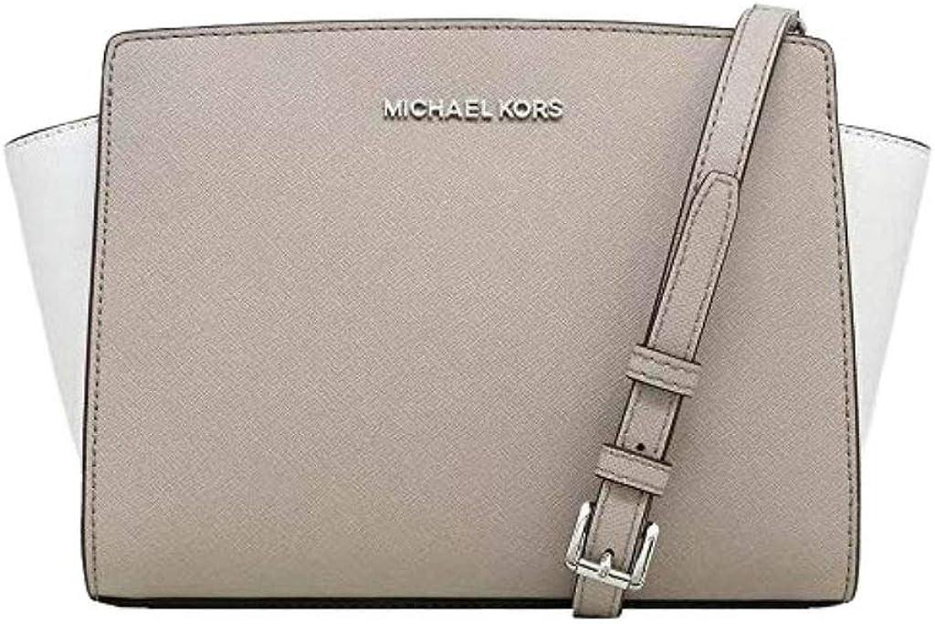 Michael Kors Selma Medium Messenger Leather Crossbody Bag