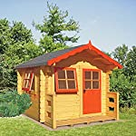 Shire Salcey Mini Log Cabin Playhouse Brown