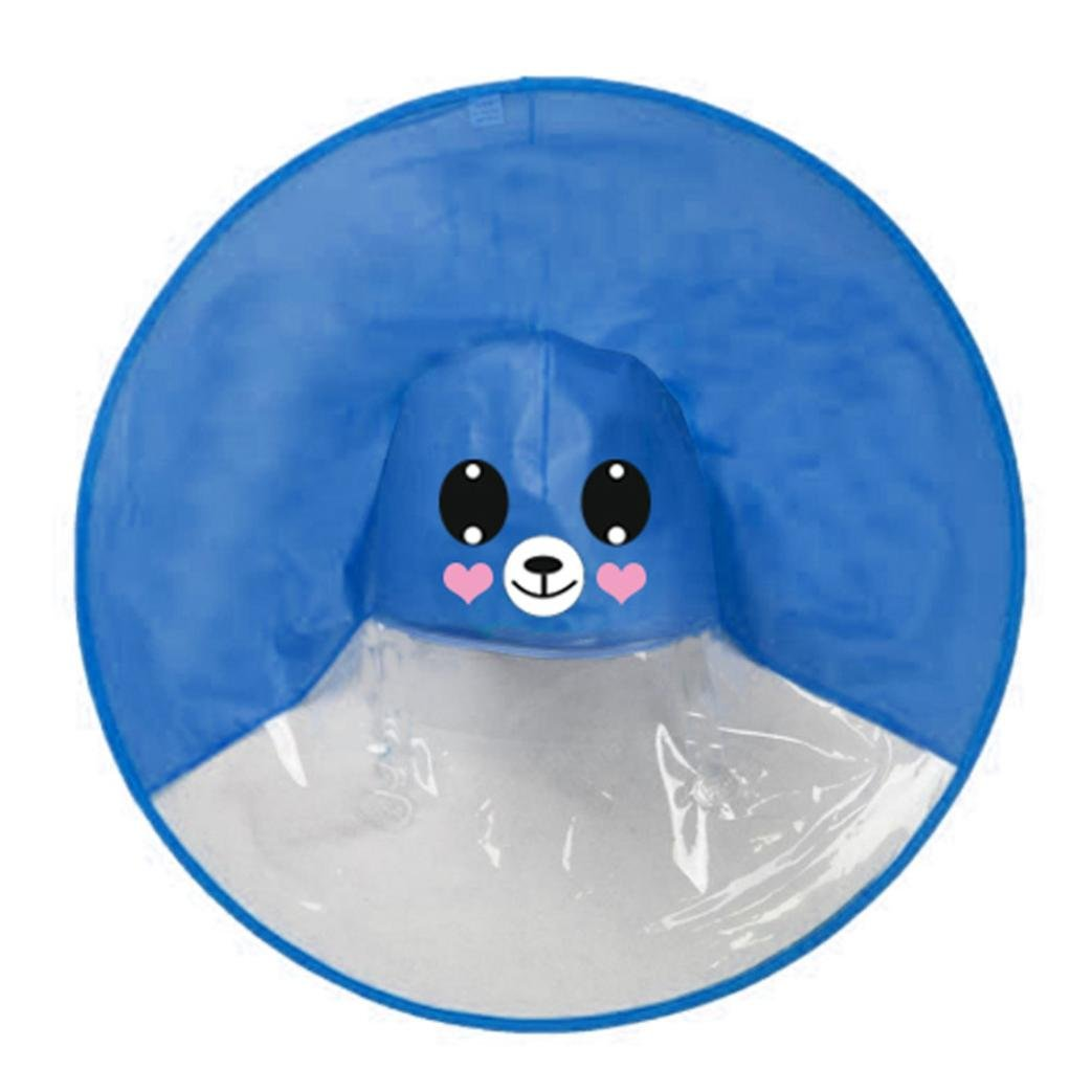 Fami Giallo Anatra Ombrello Impermeabile, Cute Pioggia Cappotto UFO Bambini Ombrello Cappello Magico Mani Libere Impermeabile, Poncho Pioggia Imballable Impermeabile