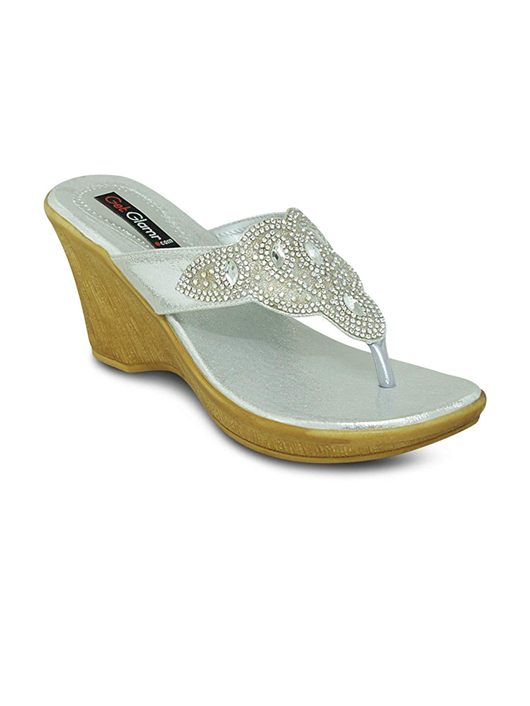 Get Glamr Women Silver Wedges Buy Online At Low Prices In