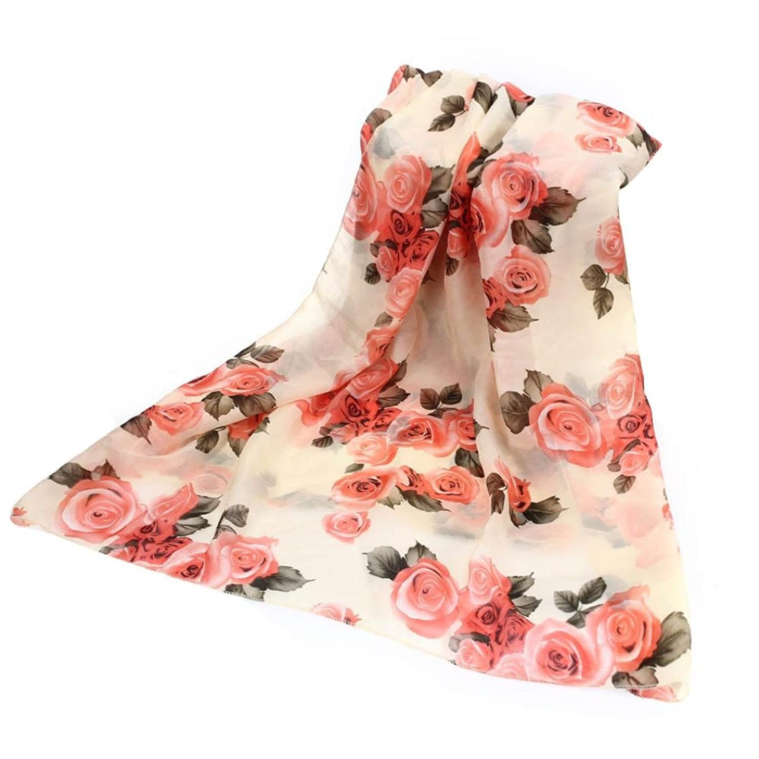 Outtop Womens Fashion Flower Chiffon Soft Shawl Scarf