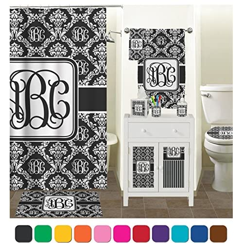 outlet Monogrammed Damask Toilet Seat Decal - Round (Personalized)