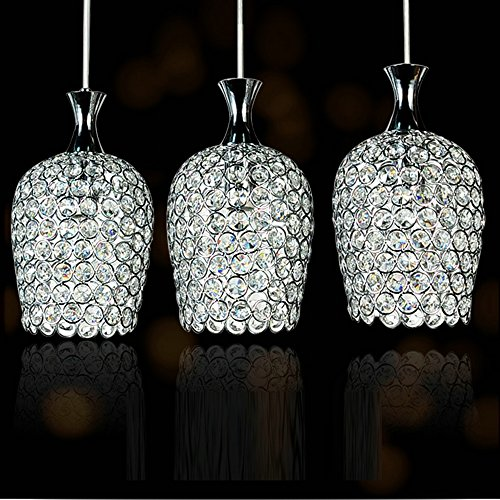 DINGGU™ Modern 3 Lights Crystal Pendant Lighting For