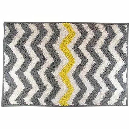 Genial Mainstays Chevron Bath Rug, Yellow, 1u00278u0026quot; ...