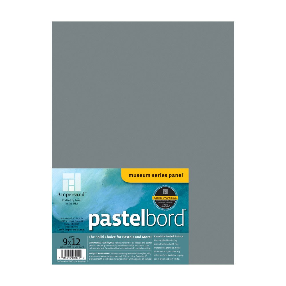 Ampersand Pastelbord 18 in gray each x 24 in