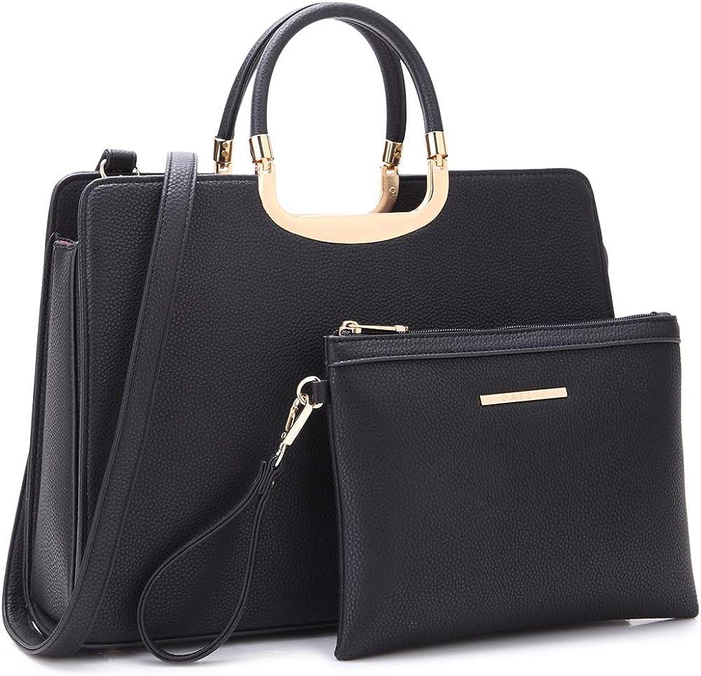 Women's Handbag Top Handle Shoulder Bag Tote Satchel Purse Work Bag with Matching Wallet