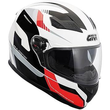 GIVI H504FSPRD61 Hps 50.4B Integral Casco con Visera deportiva, Color Rojo, Talla 61