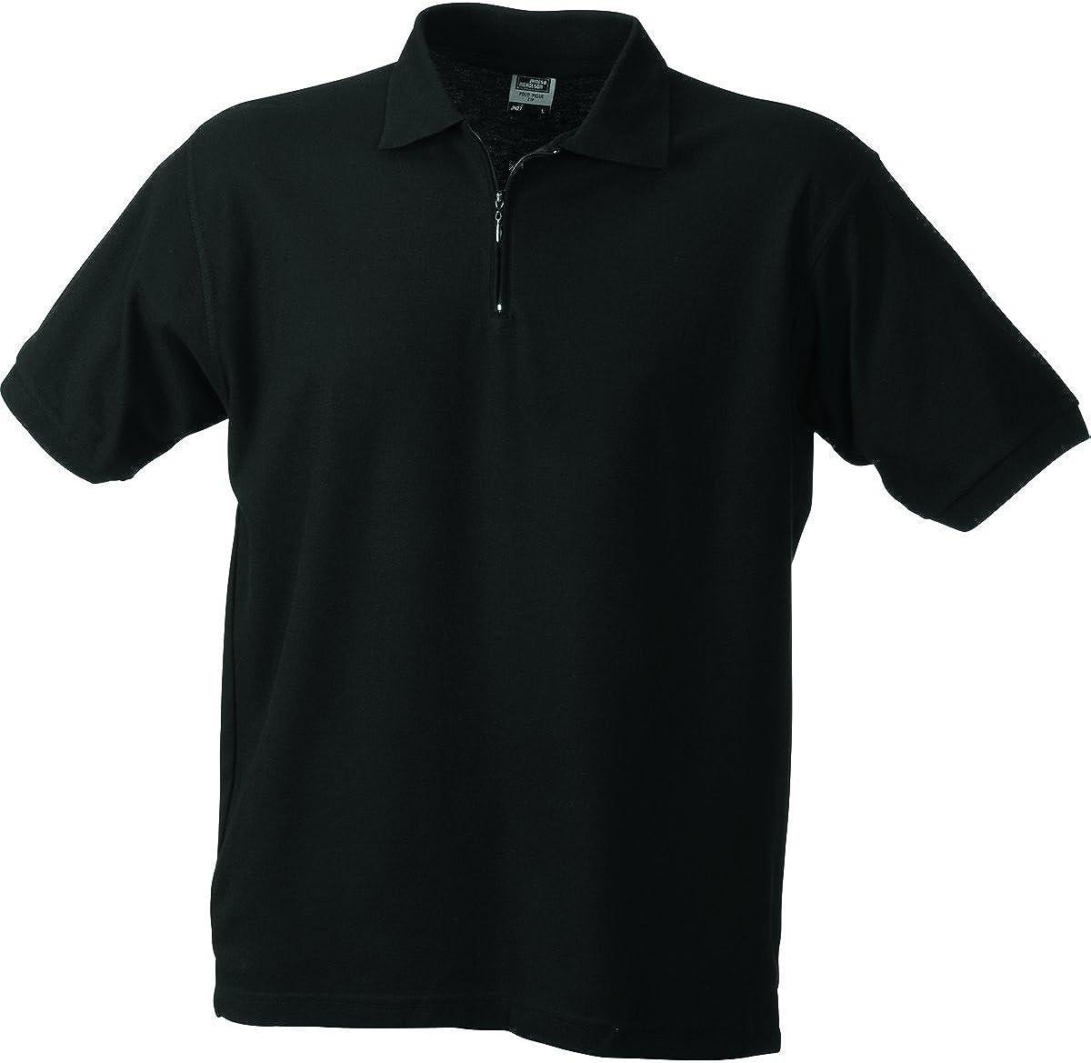 James /& Nicholson Mens Plain Short Sleeve Polo Shirt XXX-Large Black