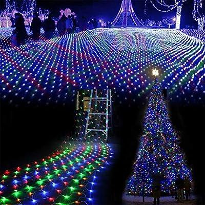 Red De Luces LED Luces De Hadas Cortina Árbol De Navidad Cadena De Luz Jardín Césped