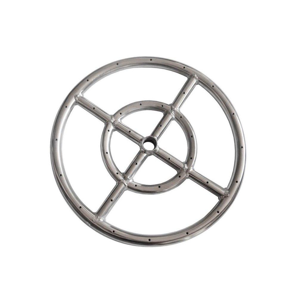 Earth Star 30,5 cm in acciaio INOX 304 propano Fire Pit Ring Burner