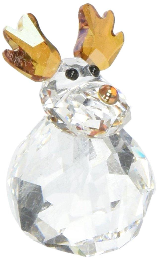 5103226 Swarovski Crystal Rocking Reindeer Figurine Swan Signed FBA_5103226
