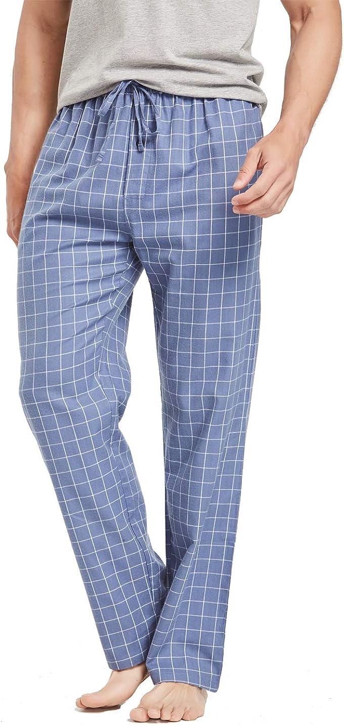 CYZ Mens 100/% Cotton Flannel Plaid Pajama Pants