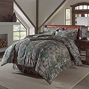 4 pc realtree xtra green camo camouflage comforter set sheet set sold separately. Black Bedroom Furniture Sets. Home Design Ideas