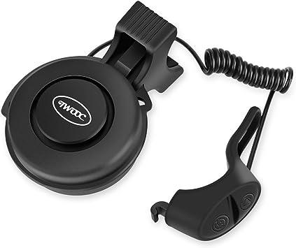 Timbre de Bicicleta, USB Eléctrico Recargable Cuerno Impermeable Alarma Ajustable(negro): Amazon.es: Deportes y aire libre