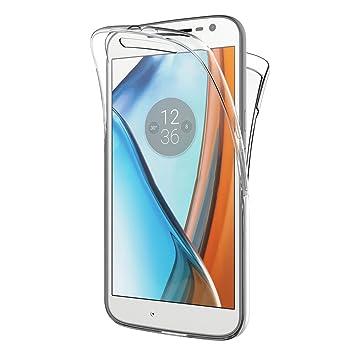 AICEK Funda Moto G4 / Moto G4 Plus, Transparente Silicona 360°Full Body Fundas para Motorola Moto G4 Carcasa Silicona Funda Case (5.5