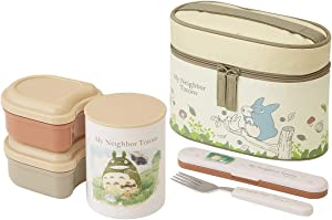 Skater My Neighbor Totoro Thermal Lunch Box Set (Food Containers, Fork and Bag) by KCLJC6 Watercolor