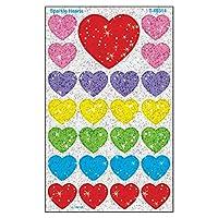 Trend Enterprises Inc. Sparkle Hearts superShapes Stickers-Sparkle, 100 ct
