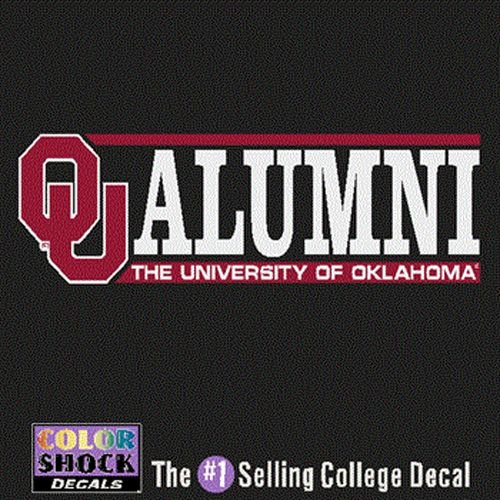 ColorShock Oklahoma Sooners Decal - Logo W/Alumni Over The University Of Oklahoma