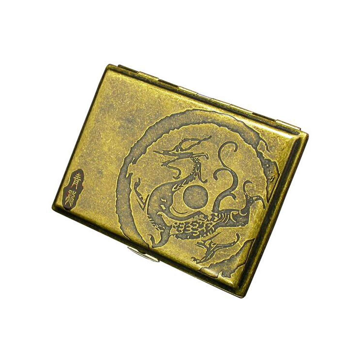 WENPINHUI Cigarette Case, Copper Cigarette Case, 16 Cigarette Holders, Ancient God Beast, Suzaku, Qinglong White Tiger, Basaltic Cigarette Box (Color : C) by WENPINHUI