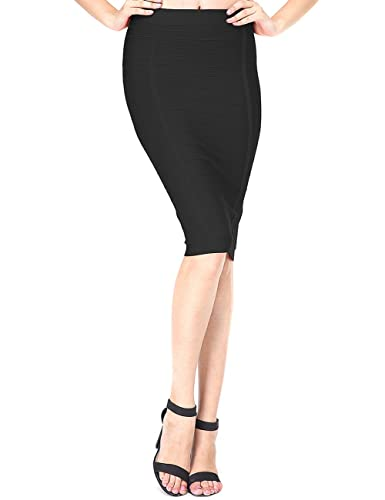 Adyce Bandage-Dress-Black Tight Skirt Stretchy Hip Pack Short Dress for Outdoor Wedding Party Evenin...