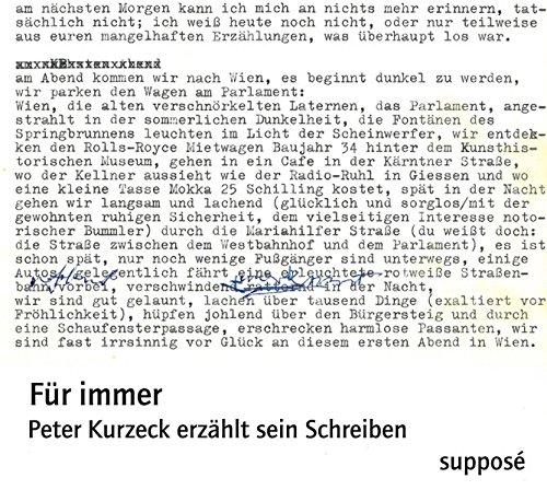 Für immer: Peter Kurzeck erzählt sein Schreiben
