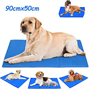 AKL Dog Cooling Mat for Pet,Pressure Activated Gel Dog Cooling Mat - No Need to Freeze Or Refrigerate This Cool Pet Pad - Keep Your Pet Cool, Use Indoors, Outdoors Or in The Car