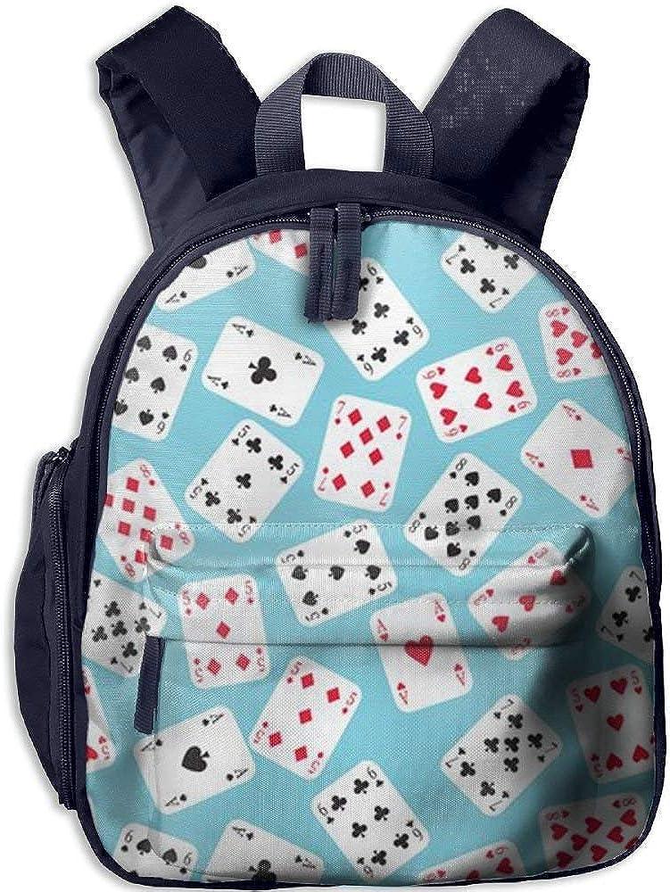 Poker Pattern Book Bag Cool Animal Kids School Daypack Camp Boy Kindergarten Backpacks