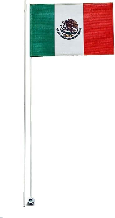 JLP Can Am Maverick X3 Polaris RZR Yamaha YXZ1000 2 Part 7' Mexico Whip Heavy Duty Flag