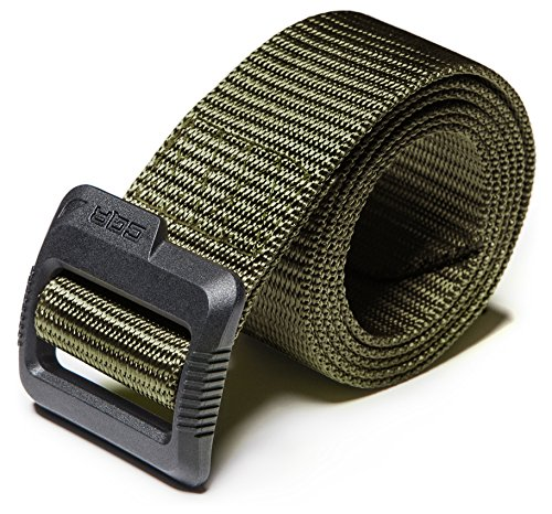 CQ-MZT01-GRN_M(w32-34) CQR Tactical Belt 100% Full Refund Assurance Nylon Webbing EDC Duty 1.5