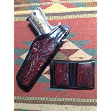 Commander Model 1911 Leather Holster & Mag Pouch Colt Kimber Ruger RIA Remington Springfield