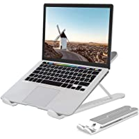 Laptop Stand, BOUNDEAL Portable Adjustable Laptop Holder, Ergonomic Foldable Aluminum Adjustable Ventilated Notebook…