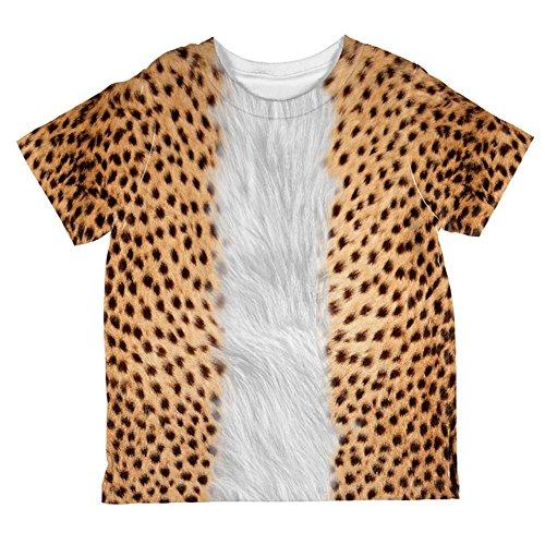 Boys Cheetah Costumes (Halloween Cheetah Costume All Over Toddler T Shirt Multi 6T)