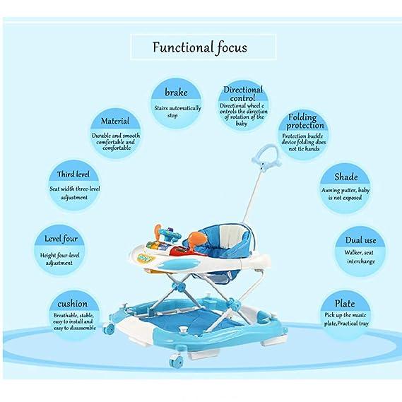 ZYP Andador para bebés, Andador Multifuncional Antideslizante para ...