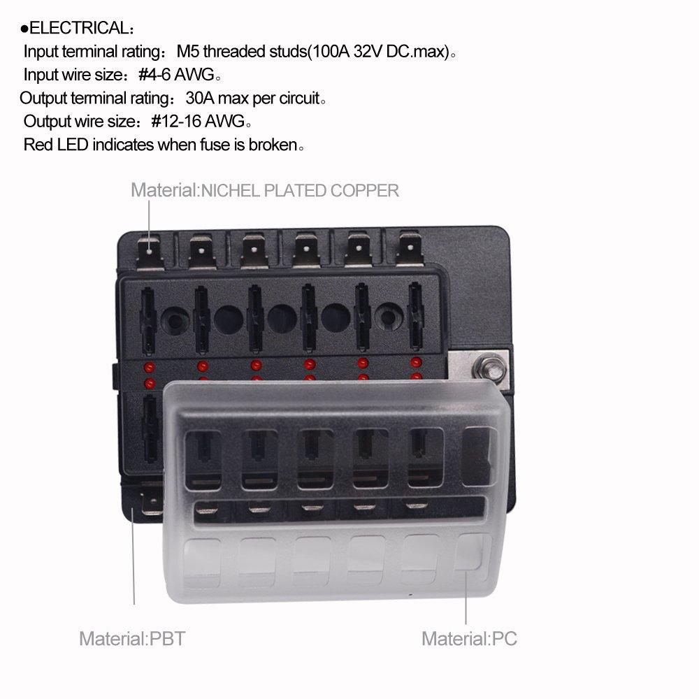 8 Way Fuse Block Quick Terminal Joyho Box Atc Ato With Led