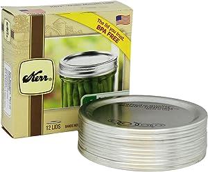 Jarden Home Brands #00088 Kerr 12PK Wide Mouth Jar Lid