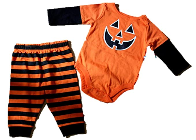 62f19c2f64 Garanimals Baby Toddler 2pc One Piece and Pant Set Pumpkin Face (12m)