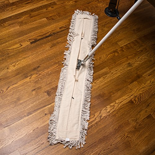 Carlisle 364754800 Flo-Pac Cotton Tie Back Dust Mop, 48'' Length x 5'' Width (Pack of 12) by Carlisle (Image #4)