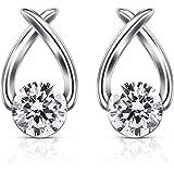 B.Catcher Stud Earrings Cubic Zirconia 925 Sterling Silver Cute Fish Earring Studs Women Jewelry Gifts