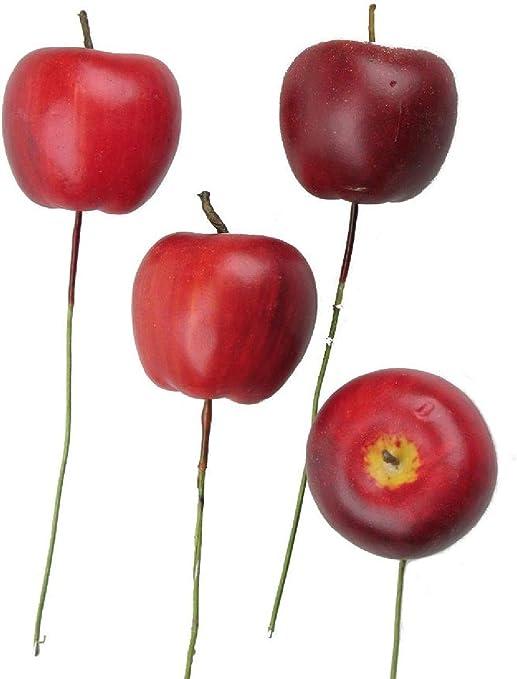 Decpero - Set de 32 Manzanas con Alambre (32 Unidades, 3,5 cm de diámetro), Color Rojo: Amazon.es: Juguetes y juegos