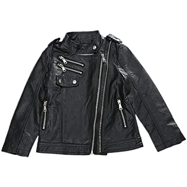 58f5051960c7 LJYH GirlsFaux Leather Quilted Shoulder Motorcycle Jacket